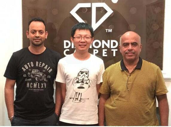 Australian Customers visited Diamond Carpet.